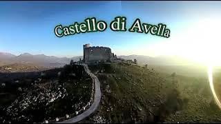 Castello di Avella ( AV ) video 360 da drone [tenere premuto il tasto sx del mouse]