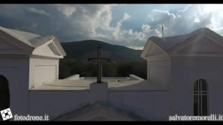 Esterni e panoramica chiesa Sant'Elia Sperone ( AV ):aerial video