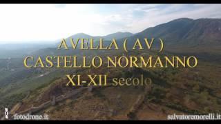 Castello di Avella visto dalla vecchia cava
